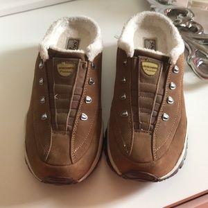 Skechers fleece lined mule sneakers